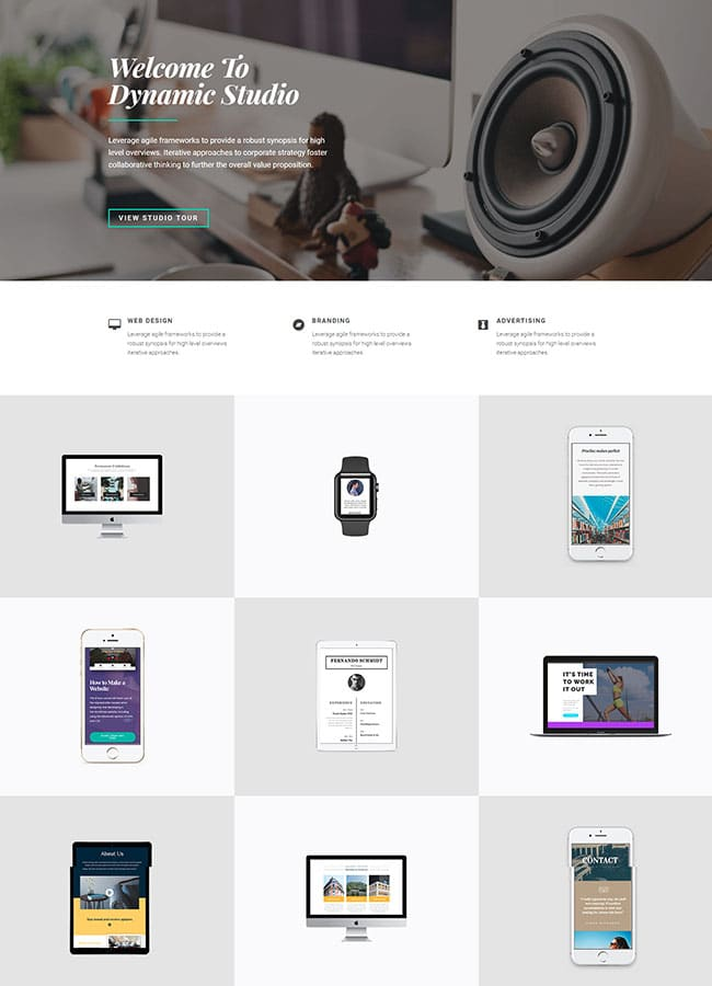 Templejt za veb stranica - Homepage Creative Agency - Veb dizajn, Темплејт за веб страница - Homepage Creative Agency- Веб дизајн