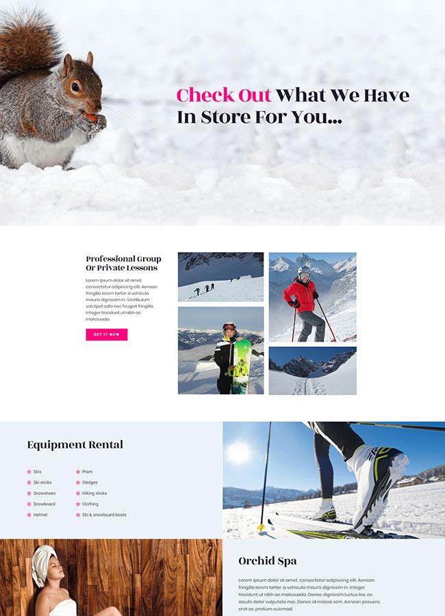Templejt za veb stranica -Ski Resort Services - Veb dizajn, Темплејт за веб страница- Ski Resort Services - Веб дизајн