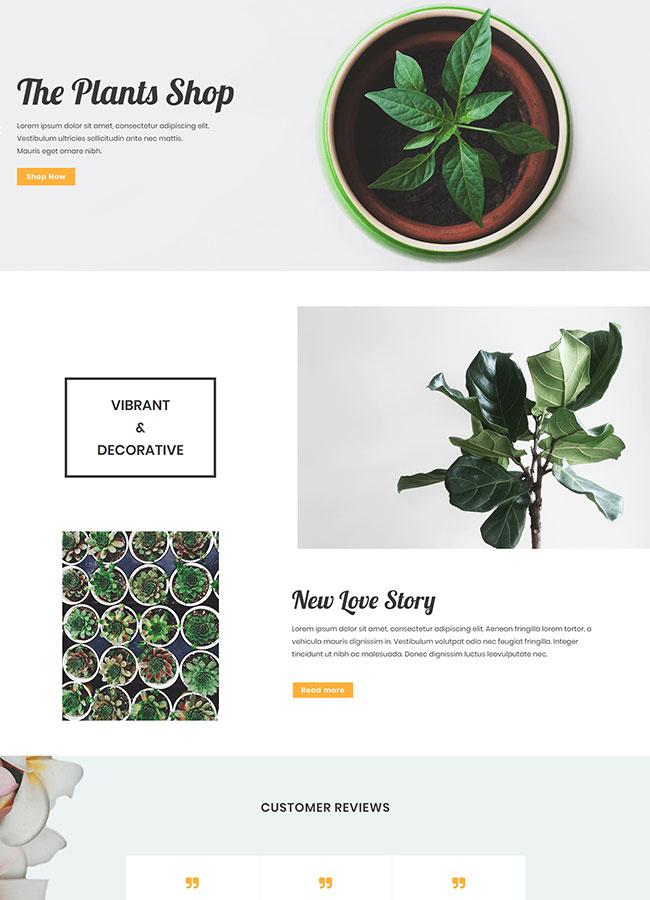 Templejt za veb stranica - Plants Shop Homepage - Veb dizajn, Темплејт за веб страница- Plants Shop Homepage - Веб дизајн