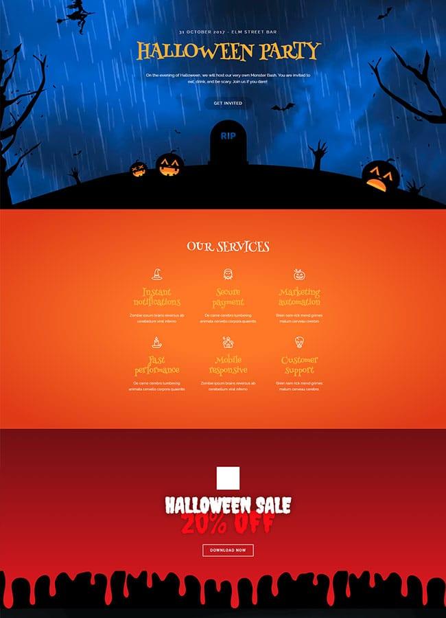 Templejt za veb stranica - Halloween Pack - Veb dizajn, Темплејт за веб страница- Halloween Pack - Веб дизајн
