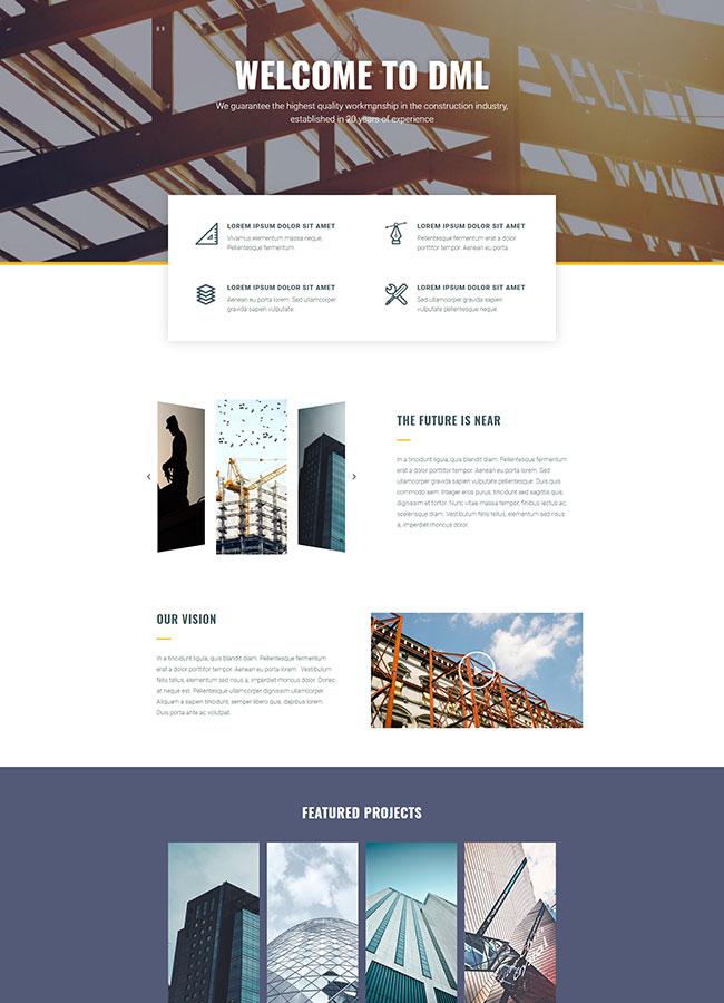 Templejt za veb stranica - Construction page About us- Veb dizajn, Темплејт за веб страница- Construction page About us - Веб дизајн