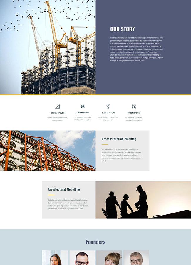 Templejt za veb stranica - Construction page About us 2 - Veb dizajn, Темплејт за веб страница- Construction page About us 2 - Веб дизајн