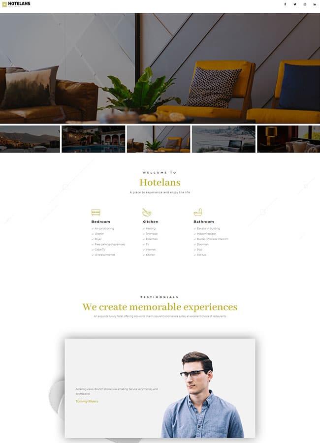 Templejt za veb stranica - Hotel page - Veb dizajn, Темплејт за веб страница- Hotel page - Веб дизајн