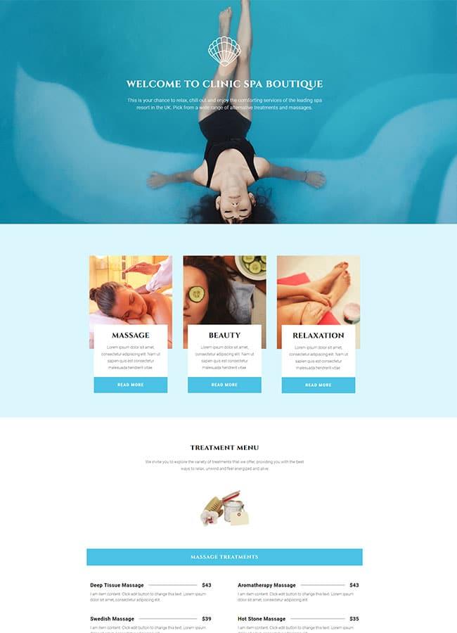 Templejt za veb stranica - One Page Spa - Veb dizajn, Темплејт за веб страница - One Page Spa - Веб дизајн