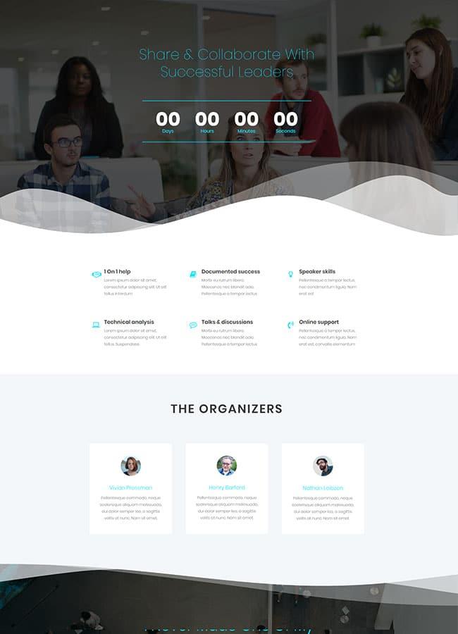 Templejt za veb stranica - One Page Creative Meetup - Veb dizajn, Темплејт за веб страница - One Page Creative Meetup - Веб дизајн