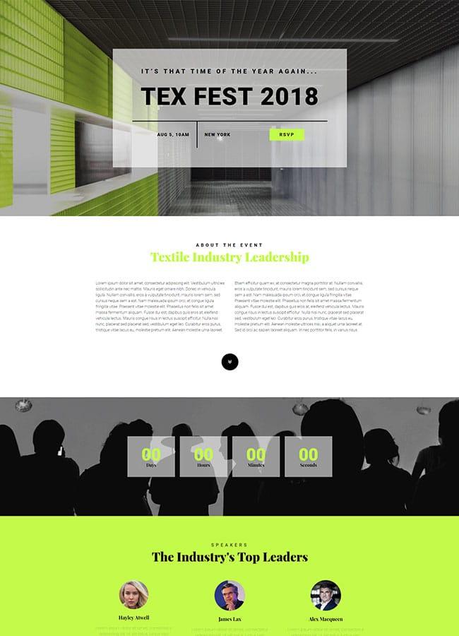 Templejt za veb stranica - One Page Textile Convention - Veb dizajn, Темплејт за веб страница - One Page Textile Convention - Веб дизајн