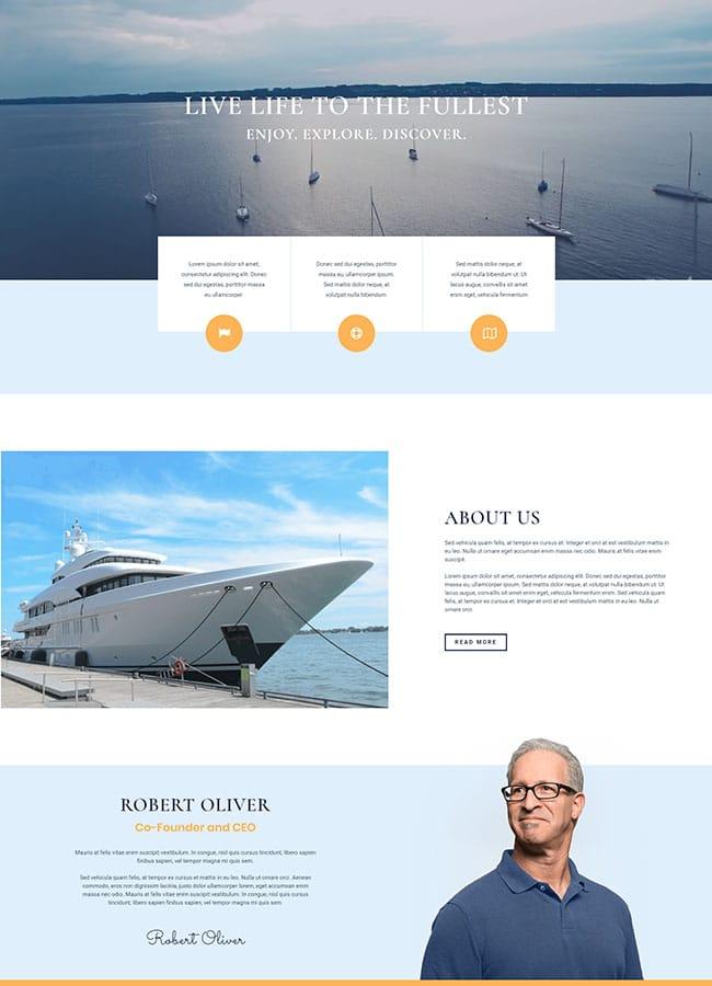 Templejt za veb stranica - One Page Yacht Rental - Veb dizajn, Темплејт за веб страница - One Page Yacht Rental - Веб дизајн