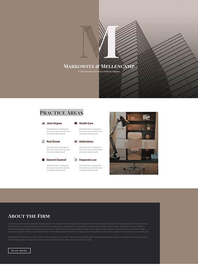 Templejt za veb stranica - Homepage Law firm - Veb dizajn, Темплејт за веб страница - Homepage Law firm - Веб дизајн