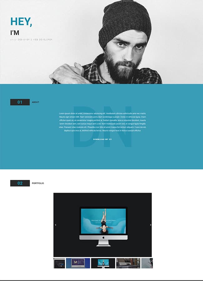 Templejt za veb stranica - Portfolio Graphic Designer - Veb dizajn, Темплејт за веб страница - Portfolio Graphic Designer - Веб дизајн