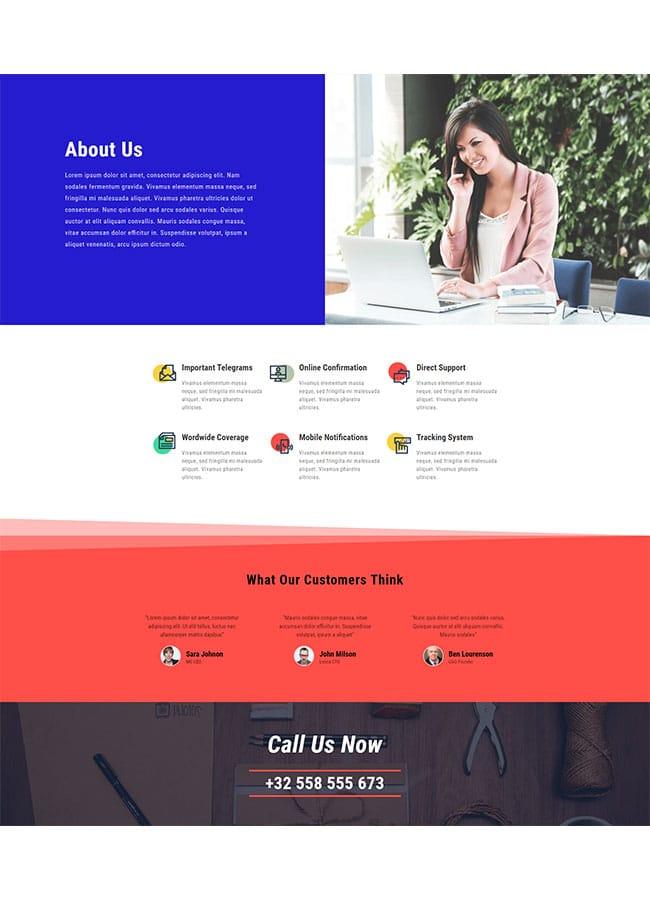Templejt za veb stranica - About Delivery Company - Veb dizajn, Темплејт за веб страница - About Delivery Company - Веб дизајн