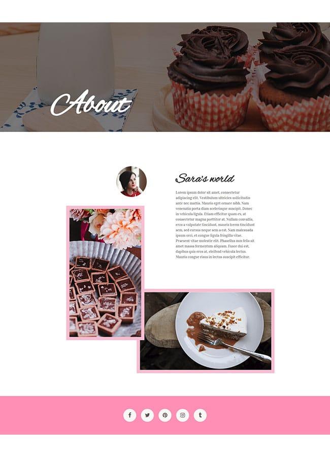 Templejt za veb stranica - About Cake Shop - Veb dizajn, Темплејт за веб страница - About Cake Shop - Веб дизајн