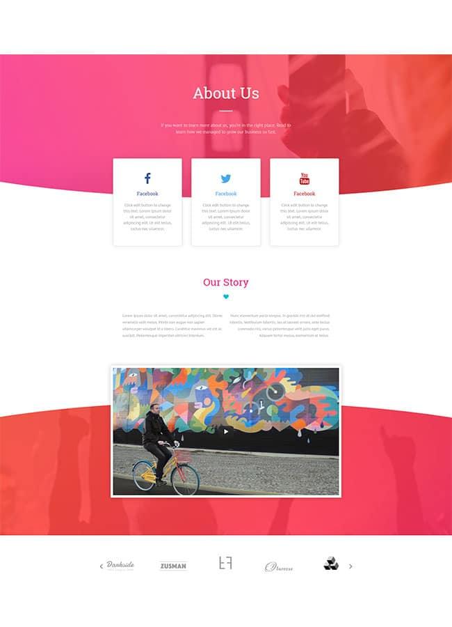 Templejt za veb stranica - About Startup - Veb dizajn, Темплејт за веб страница - About Startup - Веб дизајн