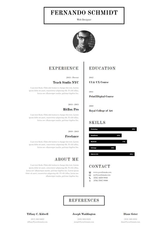 Templejt za veb stranica - About CV - Veb dizajn, Темплејт за веб страница - About CV - Веб дизајн