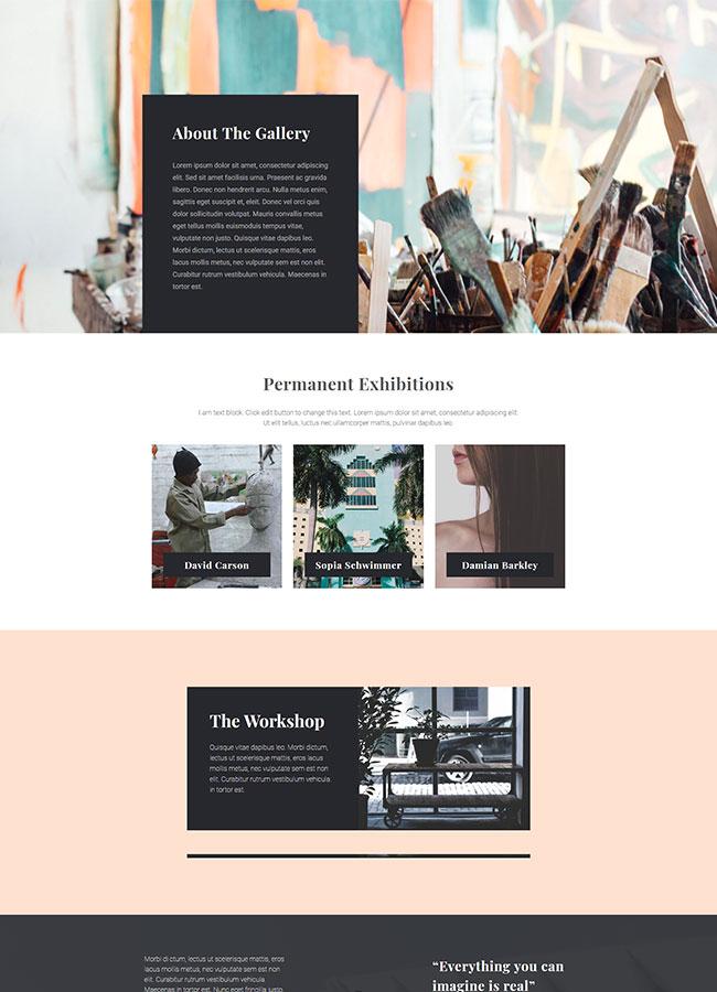 Templejt za veb stranica - About Art Gallery - Veb dizajn, Темплејт за веб страница - About Art Gallery - Веб дизајн