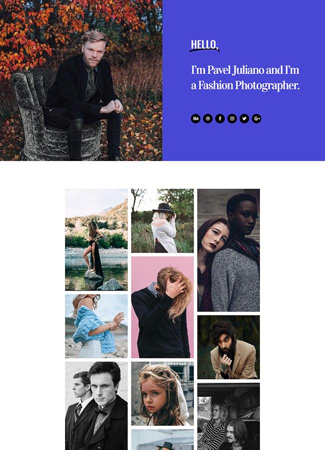 Templejt za veb stranica - Portfolio Fashion Photographer - Veb dizajn, Темплејт за веб страница - Portfolio Fashion Photographer - Веб дизајн