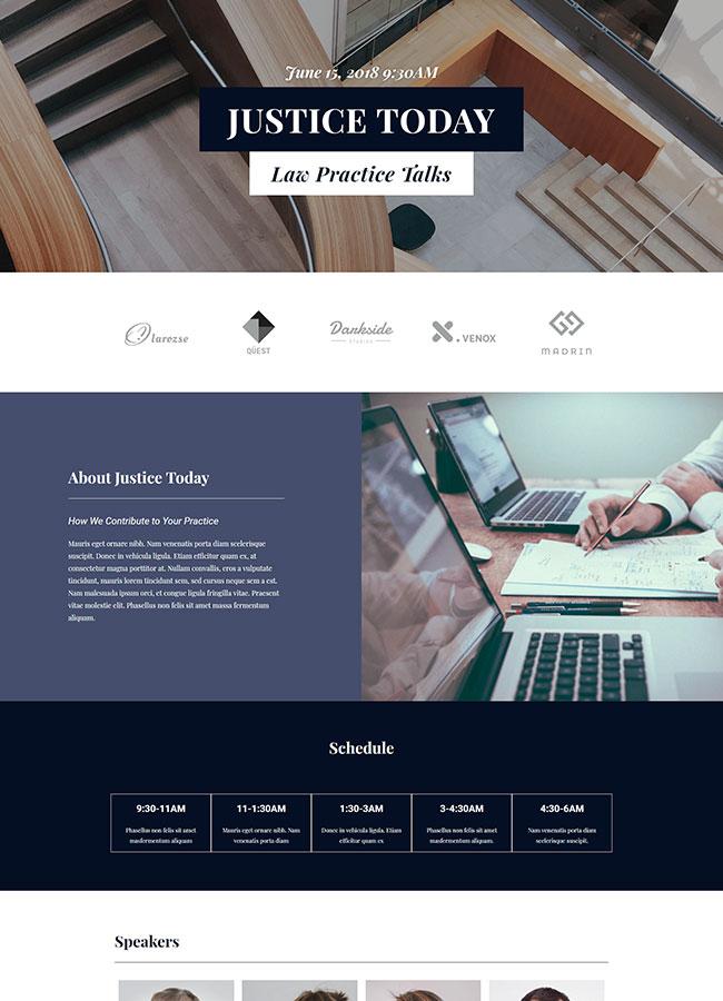 Templejt za veb stranica - Landing Page Law Convention - Veb dizajn, Темплејт за веб страница - Landing Page Law Convention - Веб дизајн