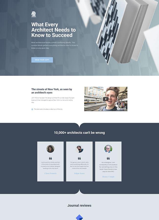 Templejt za veb stranica - Landing Page Ebook 2 - Veb dizajn, Темплејт за веб страница - Landing Page Ebook 2 - Веб дизајн