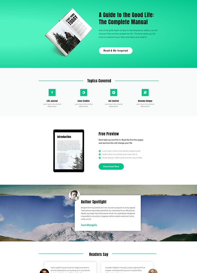 Templejt za veb stranica - Landing Page Ebook 3 - Veb dizajn, Темплејт за веб страница - Landing Page Ebook 3 - Веб дизајн