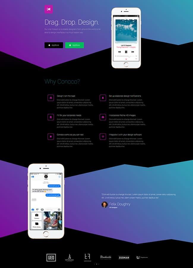 Templejt za veb stranica - Landing Page Mobile App 2 - Veb dizajn, Темплејт за веб страница - Landing Page Mobile App 2 - Веб дизајн
