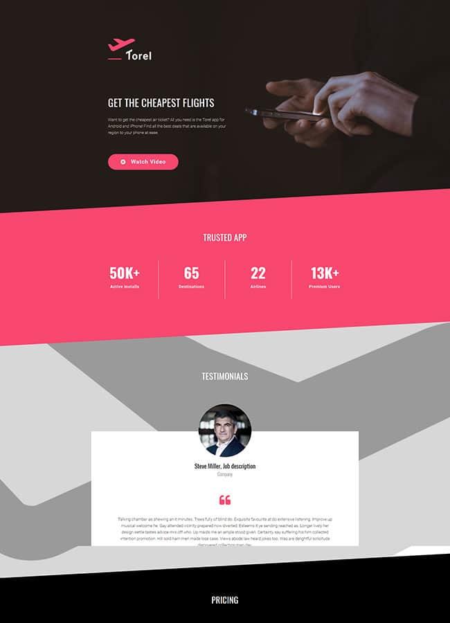 Templejt za veb stranica - Landing Page Mobile App 3 - Veb dizajn, Темплејт за веб страница - Landing Page Mobile App 3 - Веб дизајн