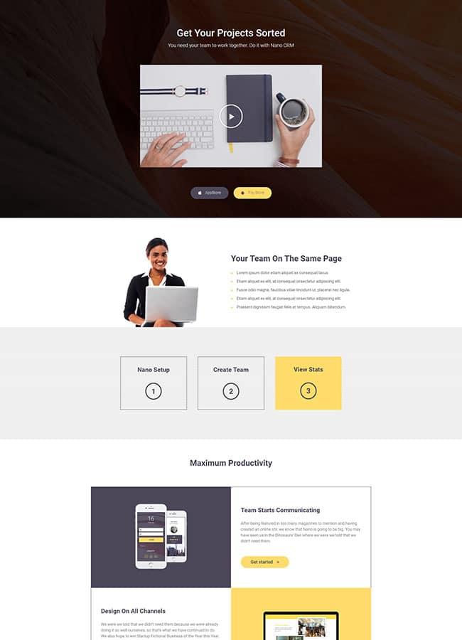 Templejt za veb stranica - Landing Page Mobile App 4 - Veb dizajn, Темплејт за веб страница - Landing Page Mobile App 4 - Веб дизајн