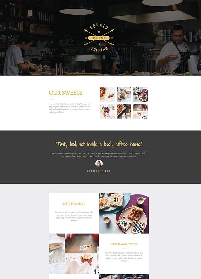 Templejt za veb stranica - Homepage Restaurant - Veb dizajn, Темплејт за веб страница - Homepage Restaurant - Веб дизајн