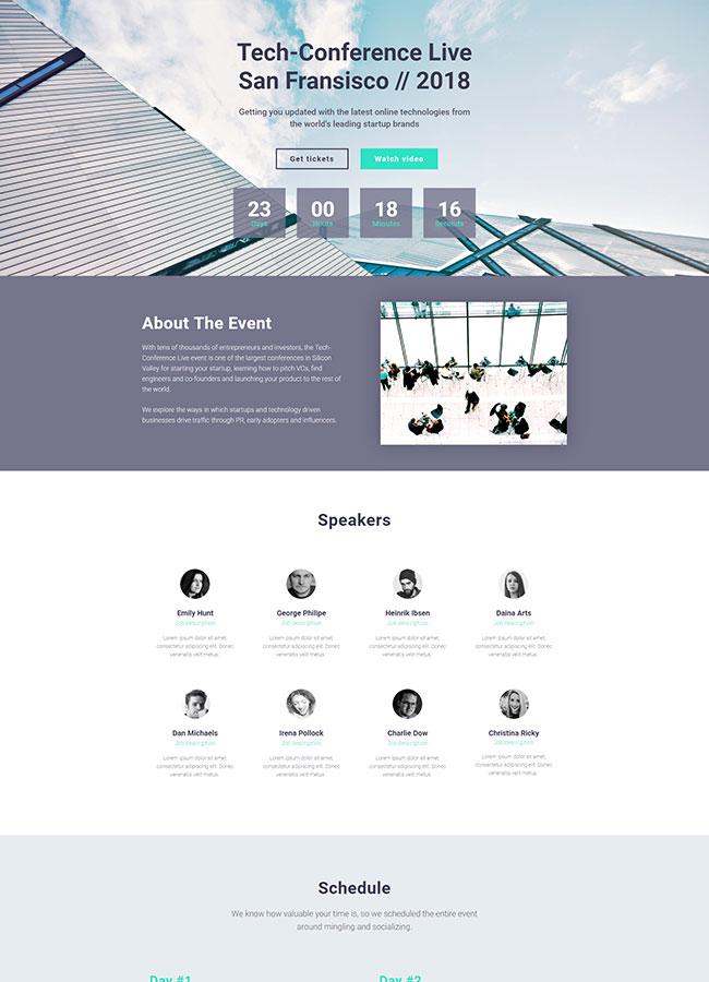 Templejt za veb stranica - Landing Page Conference 3 - Veb dizajn, Темплејт за веб страница - Landing Page Conference 3 - Веб дизајн