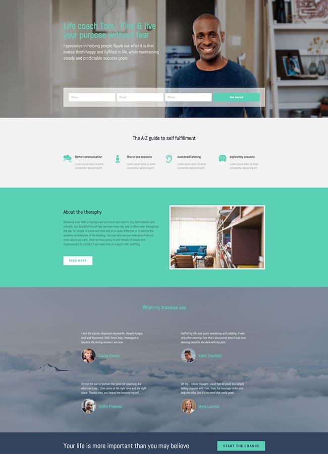 Templejt za veb stranica - Landing Page Coacher - Veb dizajn, Темплејт за веб страница - Landing Page Coacher - Веб дизајн