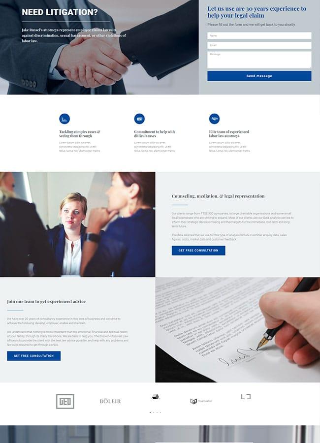 Templejt za veb stranica - Landing Page Law Office - Veb dizajn, Темплејт за веб страница - Landing Page Law Office - Веб дизајн