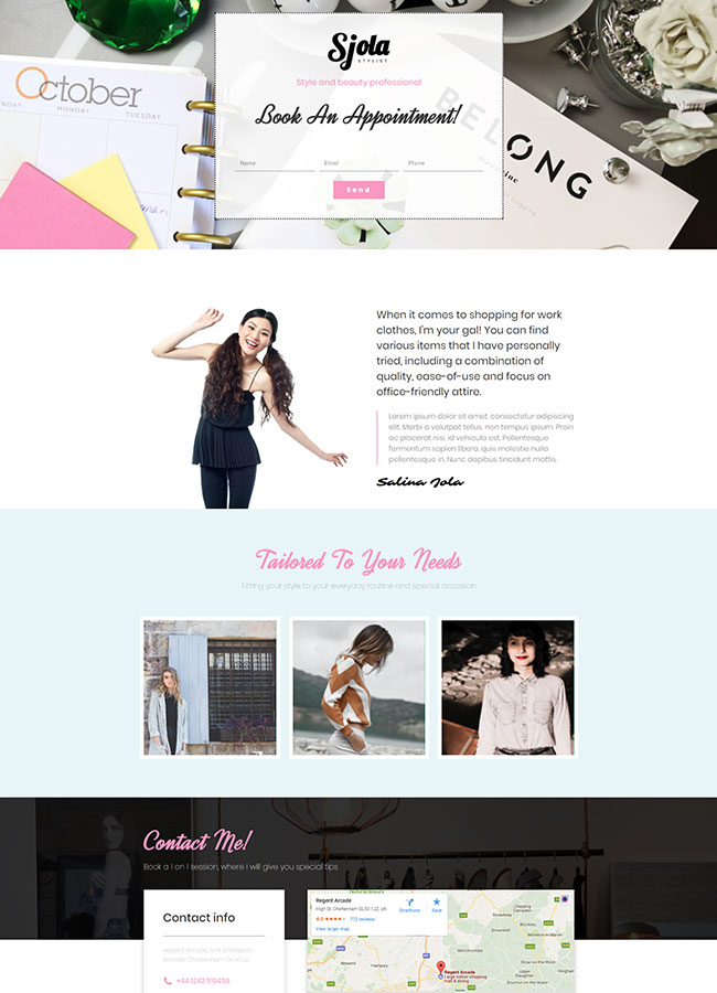 Templejt za veb stranica - Landing Page Stylist - Veb dizajn, Темплејт за веб страница - Landing Page Stylist - Веб дизајн