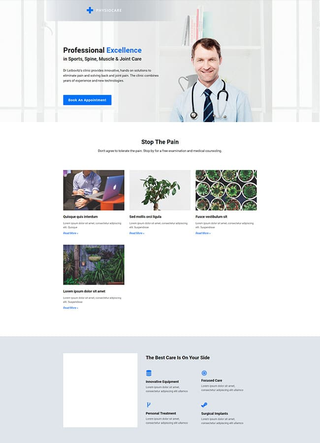 Templejt za veb stranica - Landing Page Chiropractor - Veb dizajn, Темплејт за веб страница - Landing Page Chiropractor - Веб дизајн