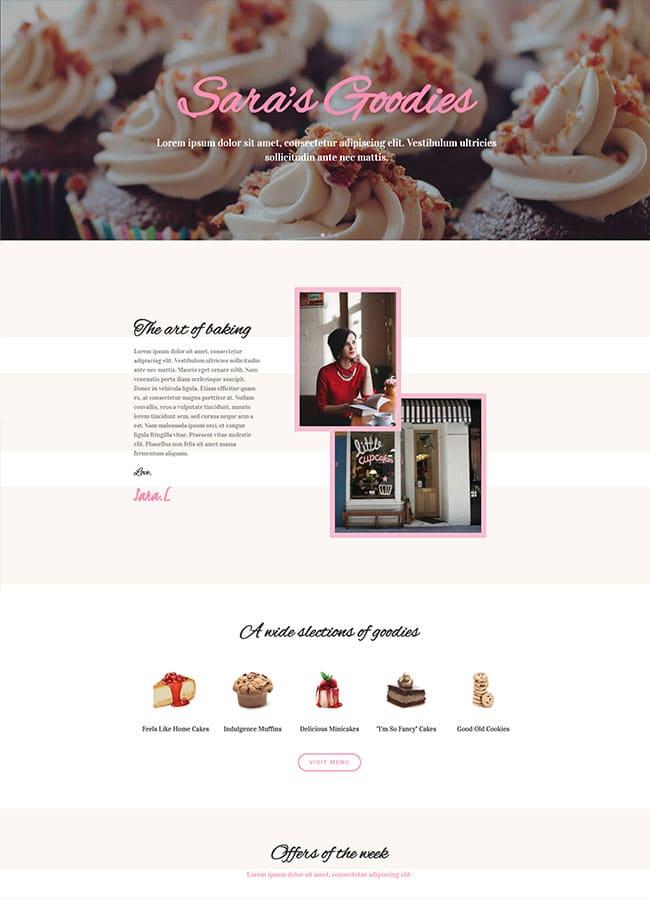Templejt za veb stranica - Homepage Cake Shop - Veb dizajn, Темплејт за веб страница - Homepage Cake Shop - Веб дизајн