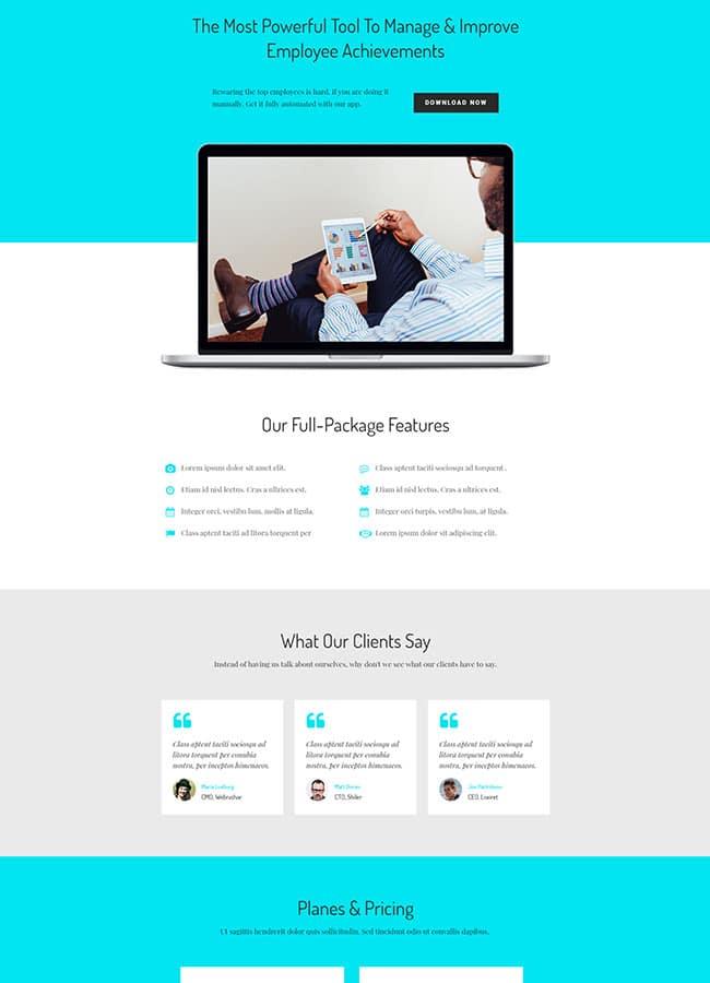 Templejt za veb stranica - Landing Page App - Veb dizajn, Темплејт за веб страница - Landing Page App - Веб дизајн