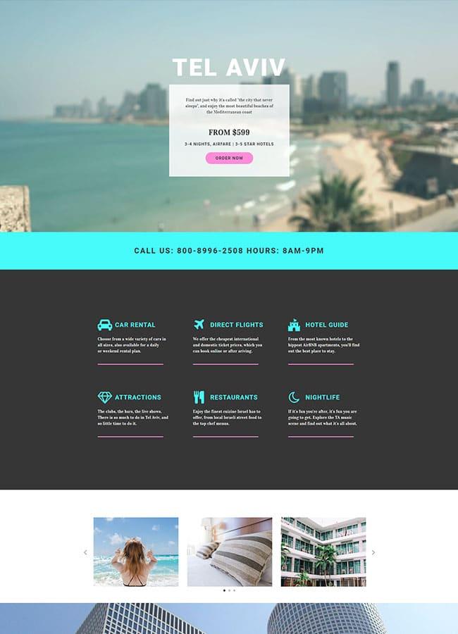 Templejt za veb stranica - Landing Page Vacation - Veb dizajn, Темплејт за веб страница - Landing Page Vacation - Веб дизајн