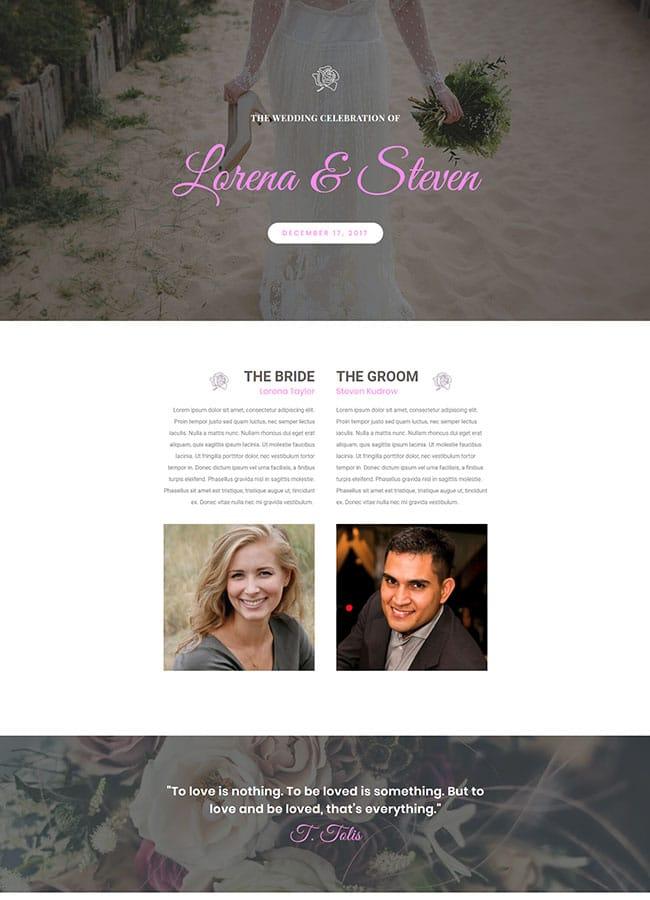 Templejt za veb stranica - Landing Page Wedding - Veb dizajn, Темплејт за веб страница - Landing Page Wedding - Веб дизајн