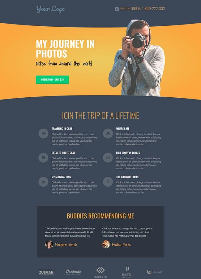 Templejt za veb stranica - Landing Page Photography - Veb dizajn, Темплејт за веб страница - Landing Page Photography - Веб дизајн