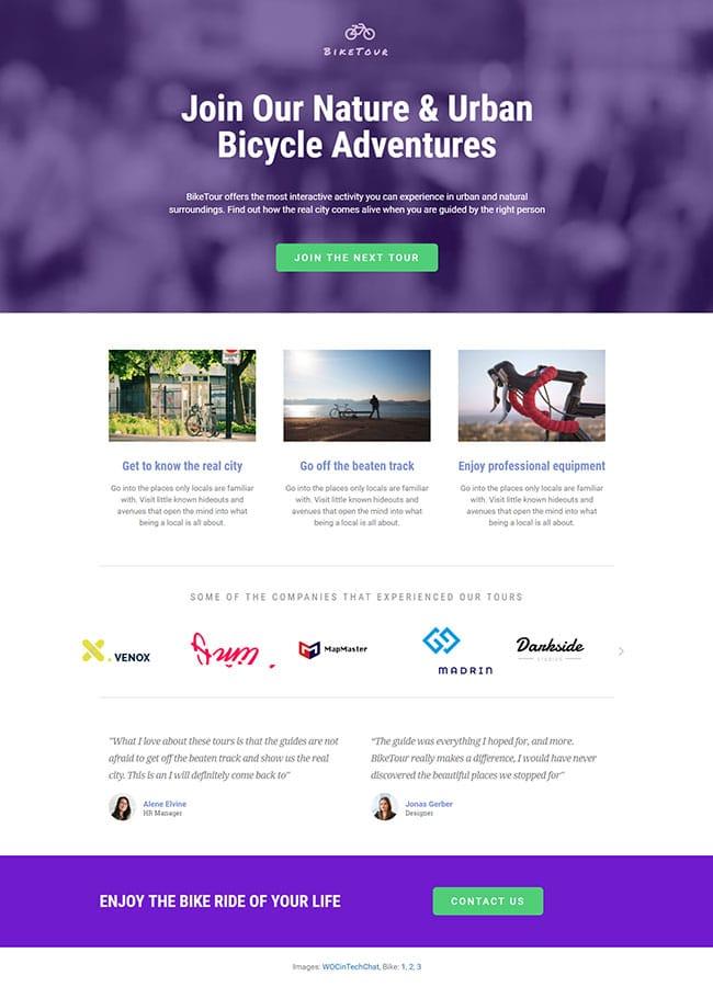 Templejt za veb stranica - Landing Page Tourism 1- Veb dizajn, Темплејт за веб страница - Landing Page Tourism 1 - Веб дизајн