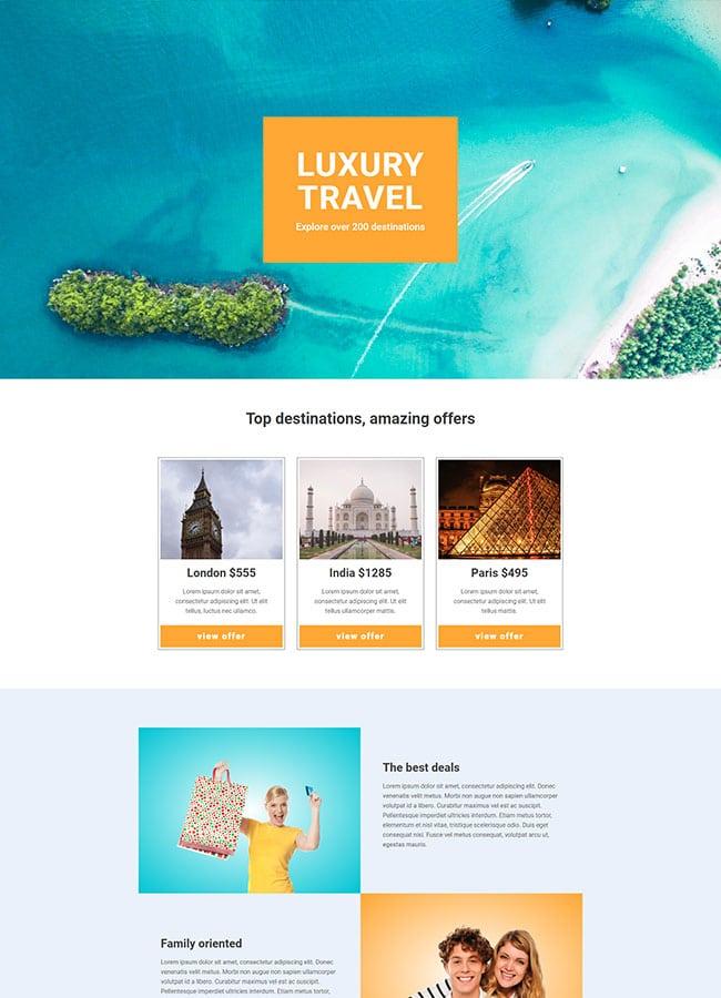 Templejt za veb stranica - Landing Page Tourism 3 - Veb dizajn, Темплејт за веб страница - Landing Page Tourism 3 - Веб дизајн