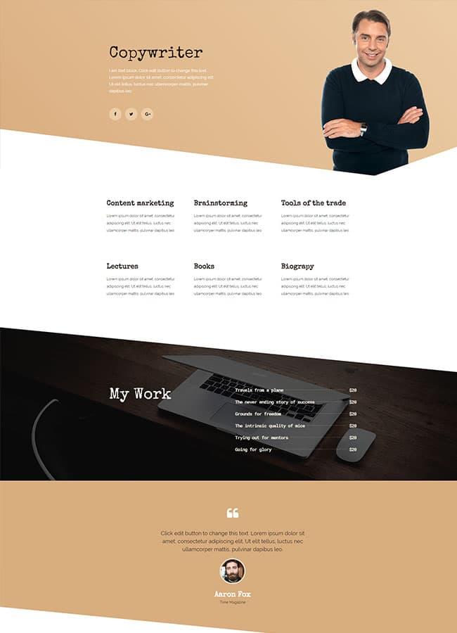 Templejt za veb stranica - Homepage Copywriter - Veb dizajn, Темплејт за веб страница - Homepage Copywriter - Веб дизајн