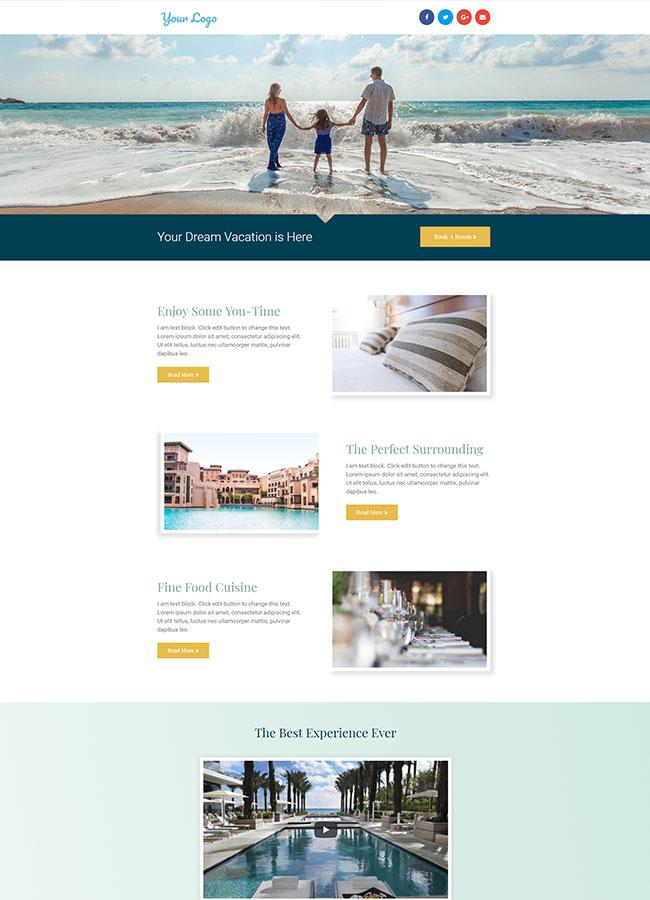 Templejt za veb stranica - Veb stranica Hotel 1 - Veb dizajn, Темплејт за веб страница - Веб страница Хотел 1 - Веб дизајн