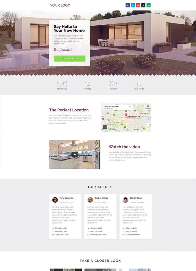 Templejt za veb stranica - Landing Page Real Estate 2 - Veb dizajn, Темплејт за веб страница - Landing Page Real Estate 2 - Веб дизајн