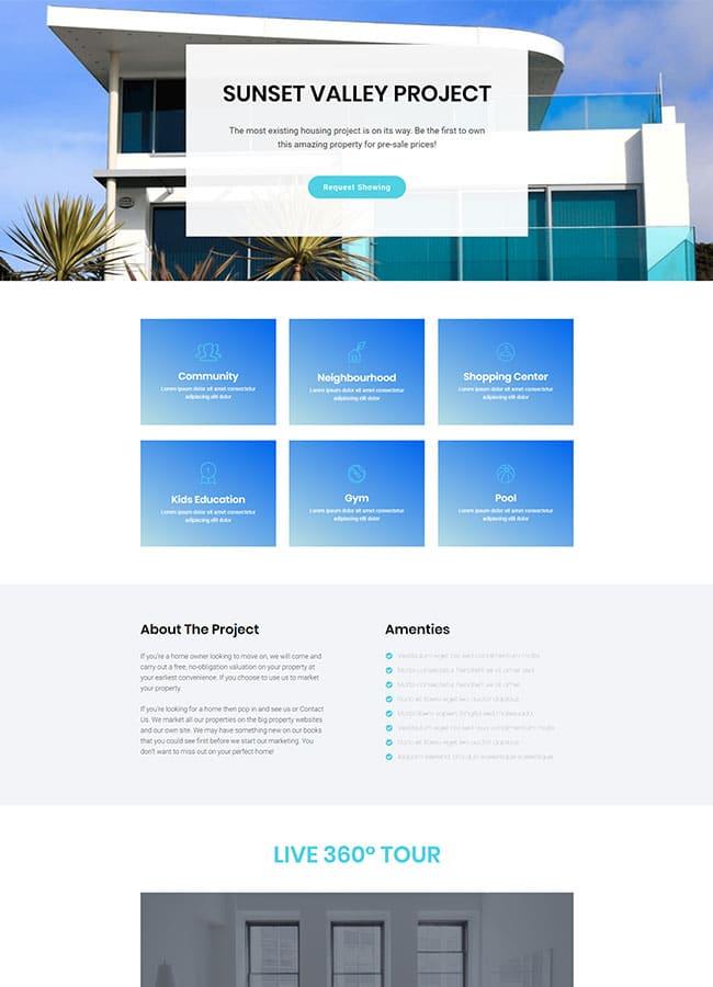 Templejt za veb stranica - Landing Page Real Estate 3 - Veb dizajn, Темплејт за веб страница - Landing Page Real Estate 3 - Веб дизајн