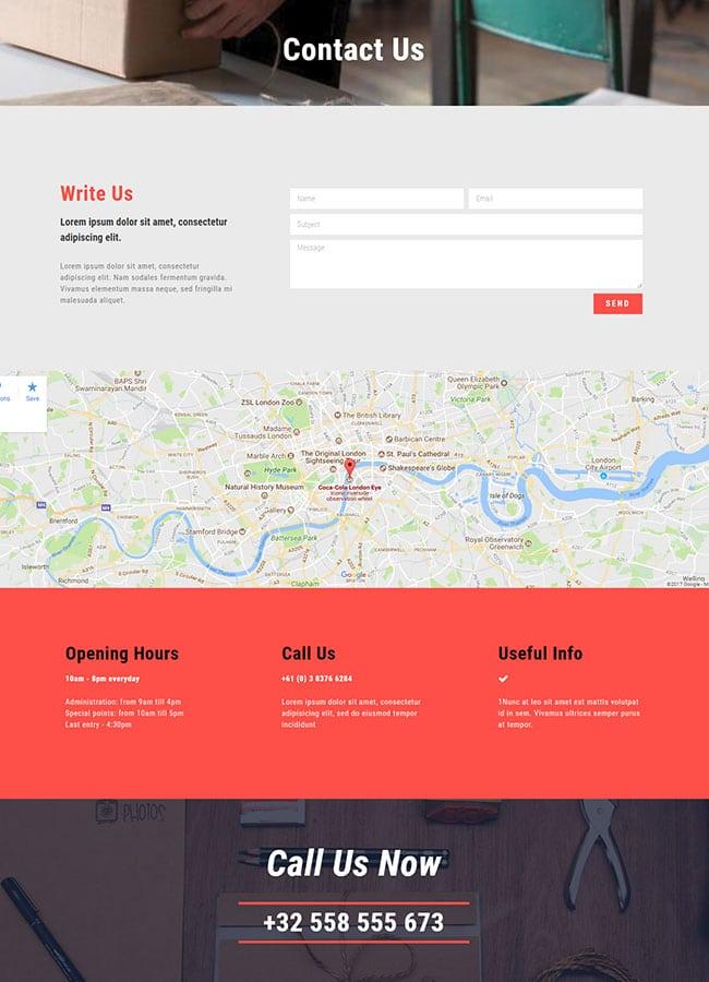 Templejt za veb stranica - Contact Delivery Company - Veb dizajn, Темплејт за веб страница - Contact Delivery Company - Веб дизајн