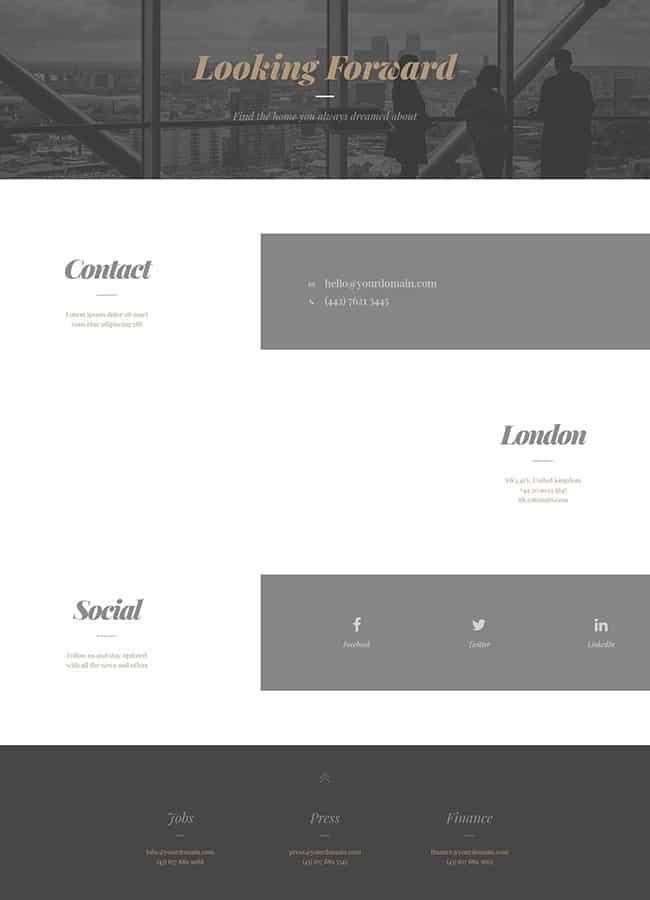 Templejt za veb stranica - Contact Modern - Veb dizajn, Темплејт за веб страница - Contact Modern - Веб дизајн