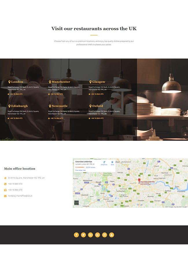 Templejt za veb stranica - Contact Restaurant - Veb dizajn, Темплејт за веб страница - Contact Restaurant - Веб дизајн