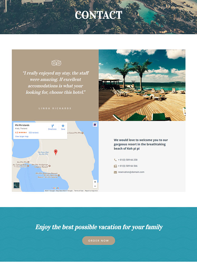 Templejt za veb stranica - Contact Hotel - Veb dizajn, Темплејт за веб страница - Contact Hotel - Веб дизајн