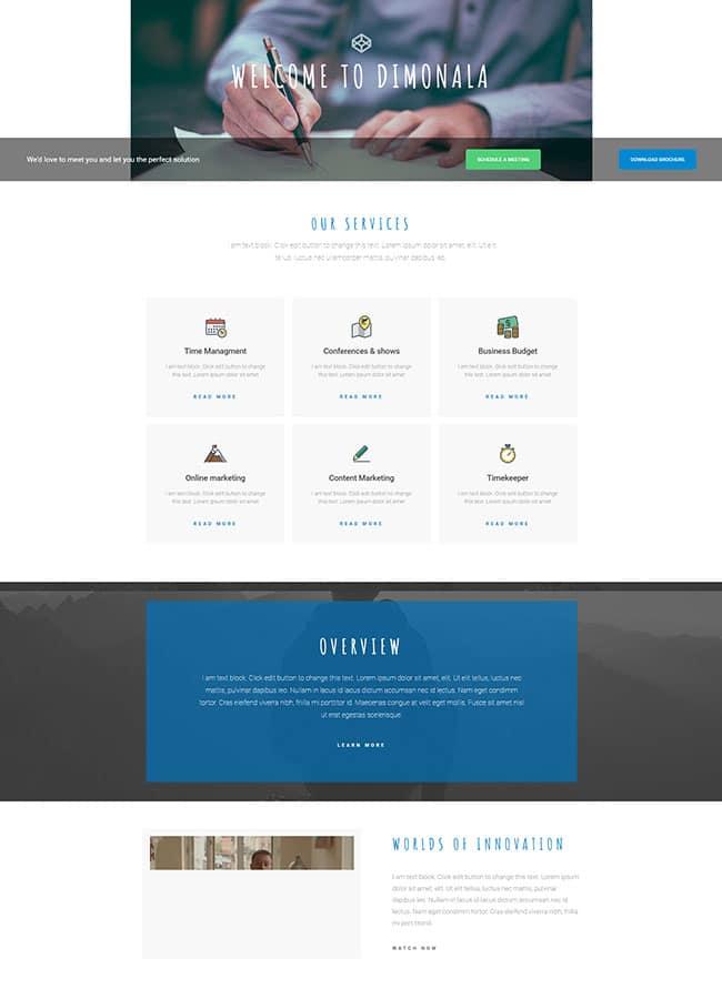 Templejt za veb stranica - Services Consulting - Veb dizajn, Темплејт за веб страница - Services Consulting - Веб дизајн