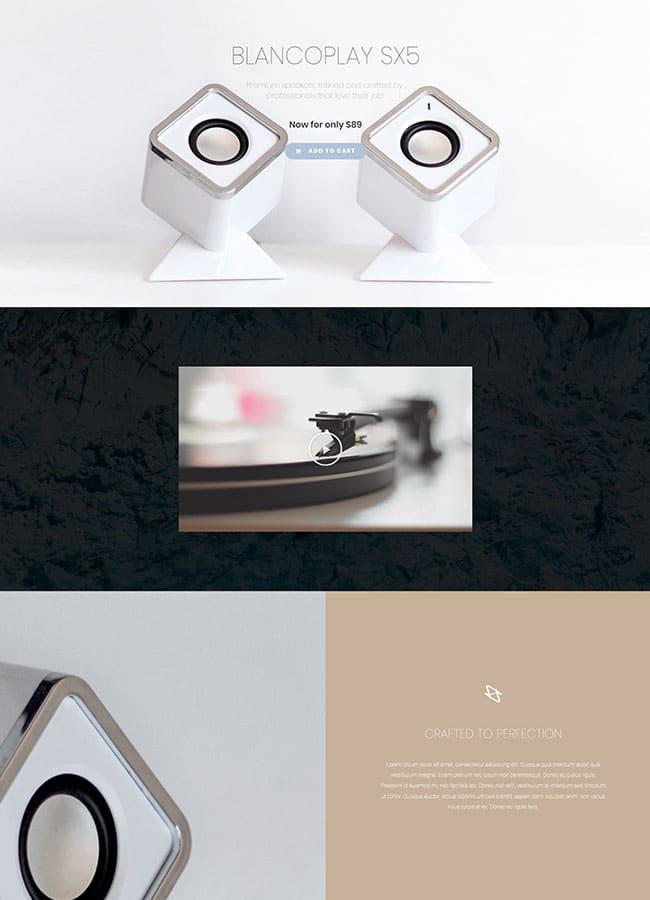 Templejt za veb stranica - Product Speakers - Veb dizajn, Темплејт за веб страница - Product Speakers - Веб дизајн