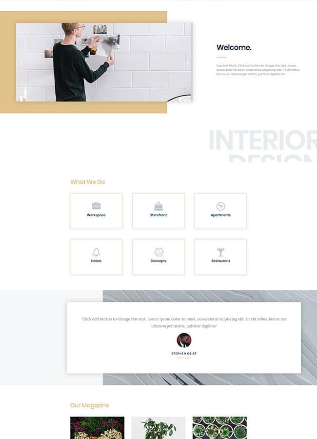 Templejt za veb stranica - Homepage Interior - Veb dizajn, Темплејт за веб страница - Homepage Interior - Веб дизајн