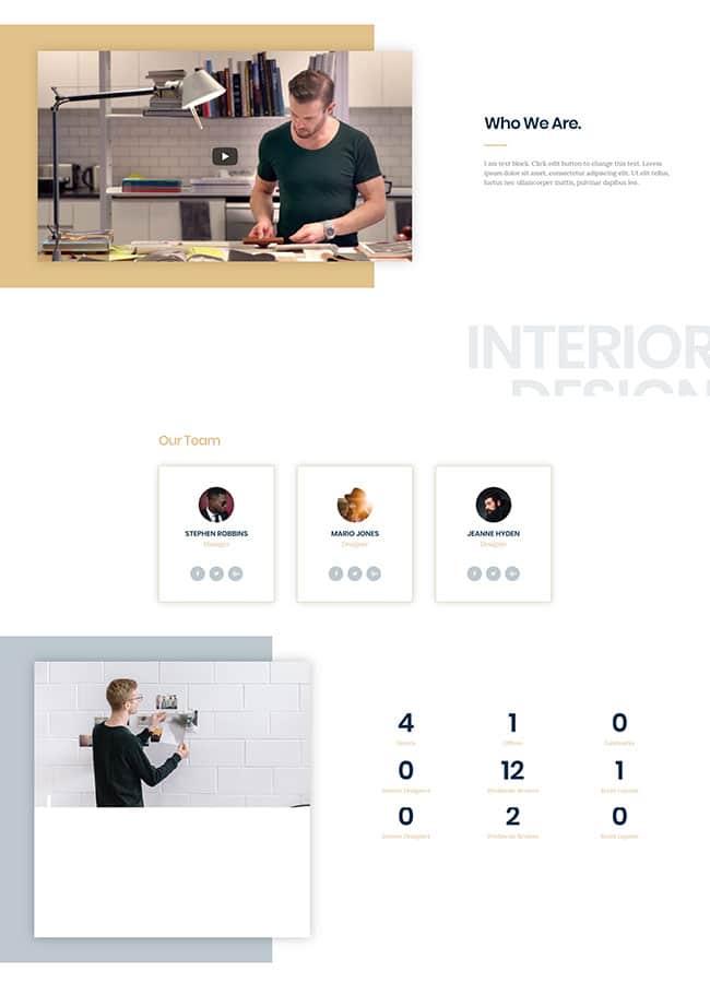 Templejt za veb stranica - About Interior - Veb dizajn, Темплејт за веб страница - About Interior - Веб дизајн